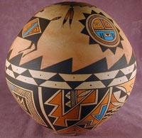 navajo pottery designs. Navajo Pottery Round Seed Bowl Designs